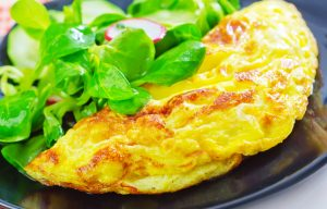 Salat-Omelett