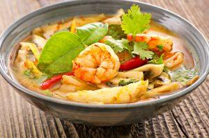 Tom Yum Gung – Gemüsesuppe mit Garnelen
