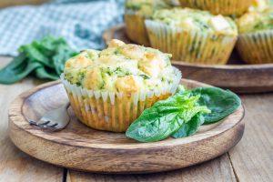 Muffins mit Spinat und Fetakäse