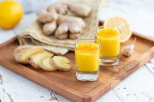 Ingwer Shot mit Zitrone und Honig