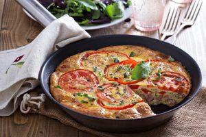 Frittata mit Schinken und Tomaten