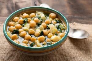 Arabische Kichererbsen-Spinat-Suppe