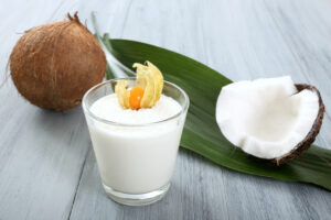 Milchshake mit Kokosmilch
