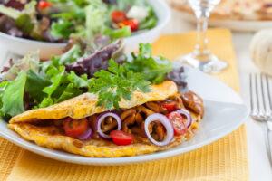 Omelett mit Pfifferlingen und Kartoffel