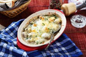 Pilzauflauf mit Mozzarella