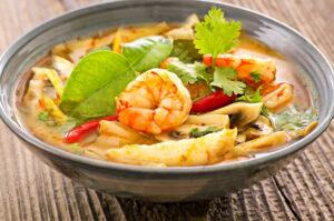 Tom Yam Gung – Gemüsesuppe mit Garnelen