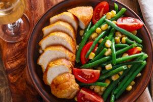Bohnensalat mit Hähnchen